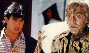 Aamir Khan and Amrish Puri