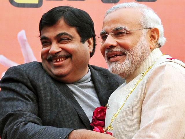 Nitin Gadkari and Modi
