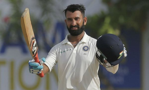 pujara 100 in the fourth test