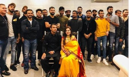siddharth kaul hosted wedding dinner for team india